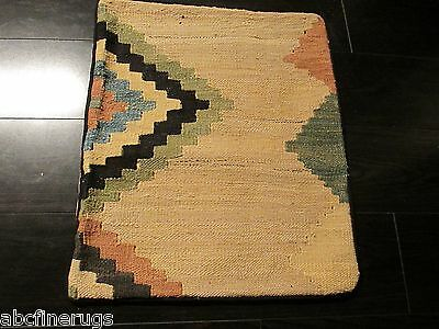 "16""x18"" PILLOW COVER Kilim Flat Weave Vegetable Dye Hand-knotted Wool 580856"