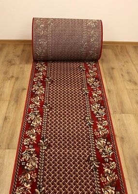 Amazing Hall Carpet Runner Gold Collection Bordo / Brown Beige Modern
