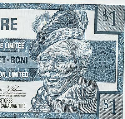 Canadian Tire Money 2004  $ 1 note  one dollar