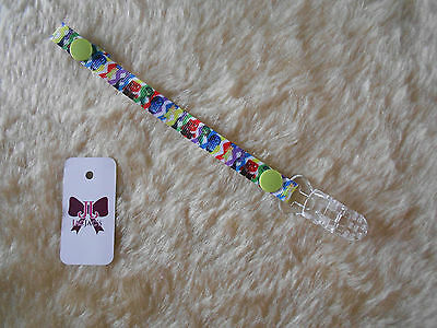 Reborn Baby Doll Dummy/Pacifier Clip made with Disney Inside Out Ribbon FREE P&P