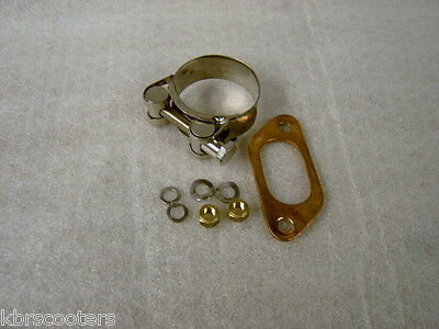 Lambretta 42Mm Exhaust Clamp And Gasket Kit Fits 42Mm Clubman Exhaust