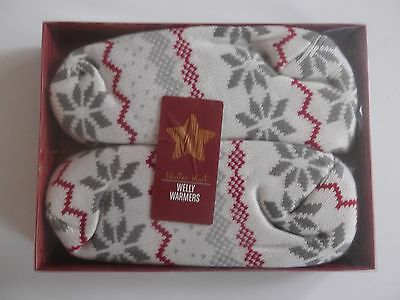 Sainsburys Microwave Welly Warmers Winter Knit Lavender Acrylic Cosy Warm Heat