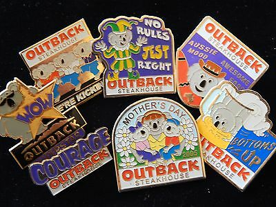 Outback Steakhouse Mothers Day Bottoms Up Beer Employee Pin Lot FREE SHIP