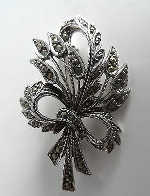 Vintage Silver Tone MARCASTIE Bunch of Flowers Brooch