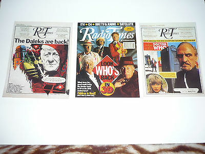 Doctor Who COMPLETE SET OF LIMITED EDITION RADIO TIMES POSTCARDS SLOW DAZZLE