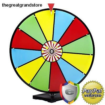 Spinning Prize Wheel Dry Erase Laminated Custom Color Party Game Carnival Steel