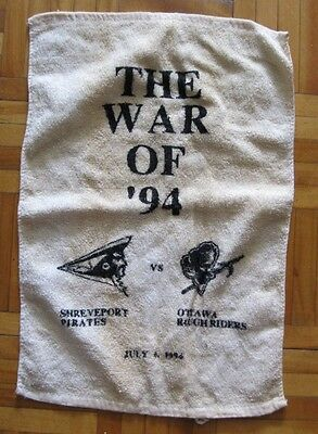 Ottawa Rough Riders Memorabilia - 1994 Shreveport Pirates vs Rough Riders Towel