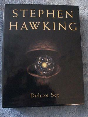 STEPHEN HAWKING DELUXE 2-BOOK SET w/HARD COVER (THE UNIVERSE IN A NUTSHELL ++))