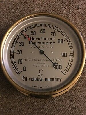 Lufft Durotherm Hygrometer Model 4007 Watrous Made Germany Humidity