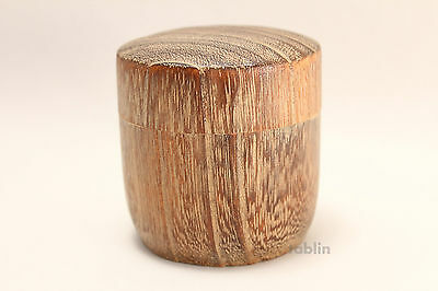 Tea Caddy Japanese fired wood Matcha container Natsume natural wood size:40g
