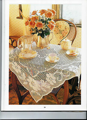 Crochet Tablecloth Pattern (NOT FINISHED ITEM)