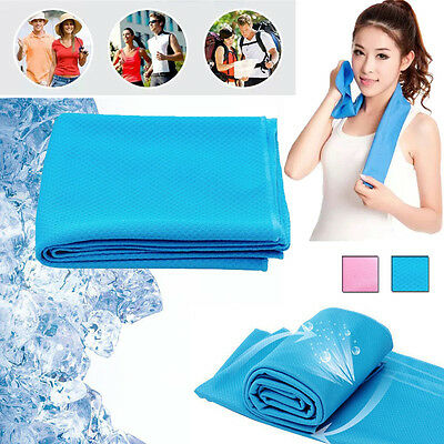 Instant Ice Cold Cooling Towel Running Jogging Gym Chilly Pad Outdoor Sports
