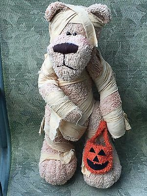 Halloween Plush Bear Wearing Mummy Costume By Honey And Me 20""
