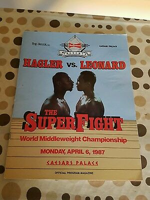 Sugar Ray Leonard V Marvin Hagler Official Fight Program