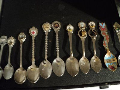 11 Different Domestic And  International Collector Spoons  (Great For Starters )