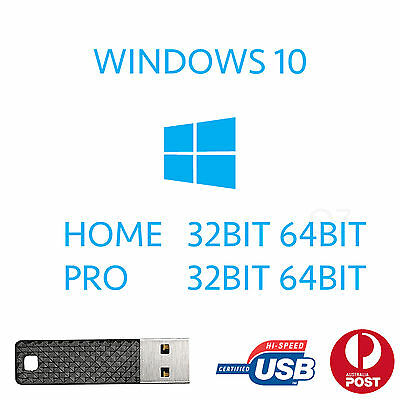 Windows 10 Home Pro 32Bit 64Bit Installer Recovery Bootable Upgrade Repair Usb