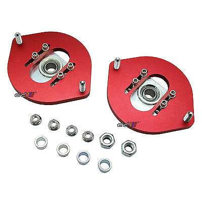 Front Coilover Camber Plate Adjustable Top Mount For Mitsubishi Lancer EVO 1 2 3