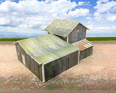 N Scale Buildings Kit - Weathered Homestead / Depot - Coverstock Paper Kit