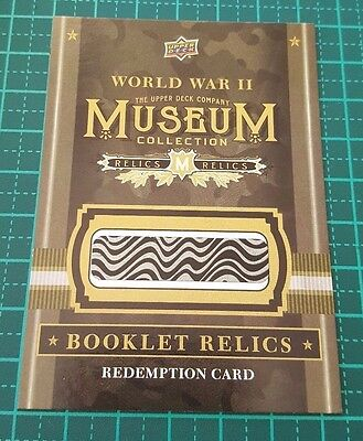 2016 Goodwin Champions WW11 Museum Collection Booklet Relics Redemption Card