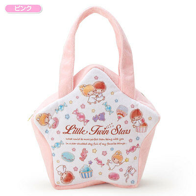 Sanrio Little Twin Stars Star shape Mini Tote Bag pink From Japan w/Tracking