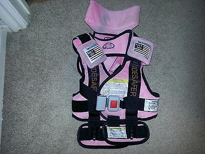 Ride Safer 3 Travel Vest (Safe Traffic System RideSafer), Pink, Small