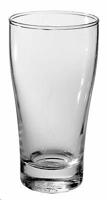 48 x 285ml Conical Pot Beer Glass Commercial Grade Weight & Measures Approved