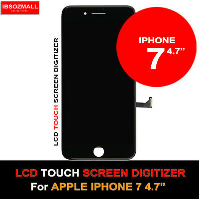 "Genuine Lcd Screen Digitizer For Apple Iphone 7 4.7"" Space Grey / Jet Black"