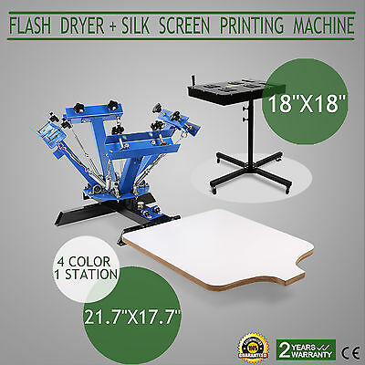 4 Color Screen Printing 1 Station Kit 18x18 Flash Dryer Electric Control Printer