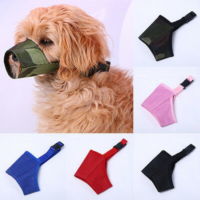 New 7 Sizes Adjustable Dog Pet Safety Mouth Cover Muzzle Anti Bite Chew Bark