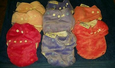 Itti Bitti  Tutto  Shells Cloth Nappies  Size Fits All +Roll Of Flushable Liners