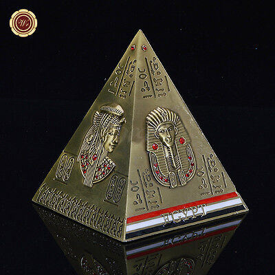 WR Arts And Crafts Gift Unique Coin Counting Money Savings bank Pyramid Souvenir