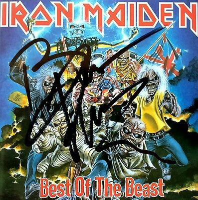 Iron Maiden Bruce Dickinson Best Of The Beast Album Cd Hand Signed Autographed