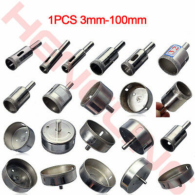 1Pcs Diamond Tool Drill Bit Hole Saw For Glass Ceramic Marble Tile 3mm-100mm New