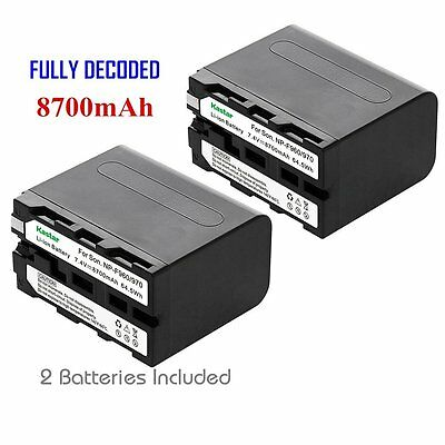 2x Kastar Battery for Sony NP-F975 NP-F970 NP-F960 NP-F950