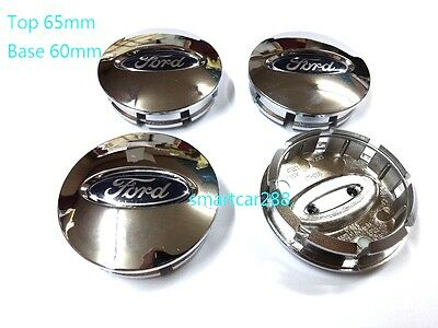 65mm Alloy Wheel Centre Cap x4 New Alloy Wheel Centre Caps chrome for FORD