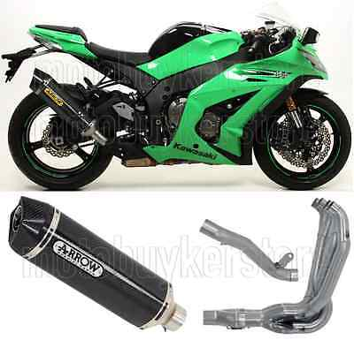 Arrow Full Muffler Exhaust System Rt Carbon Carby-Cup Kawasaki Zx-10R 2011 11