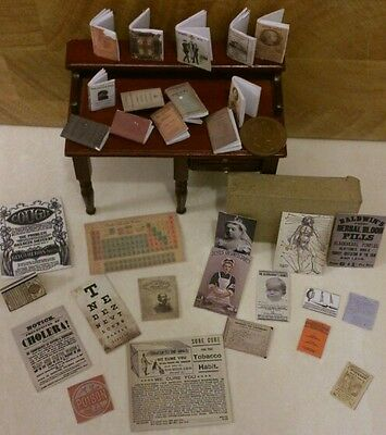 Victorian Medical Books, Posters, pamphlets, Eye chart, Periodic  & perscription