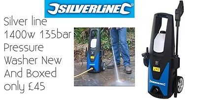 Pressure Washer Silverline 1400w 135bar Pressure Washer New And Boxed Only £45