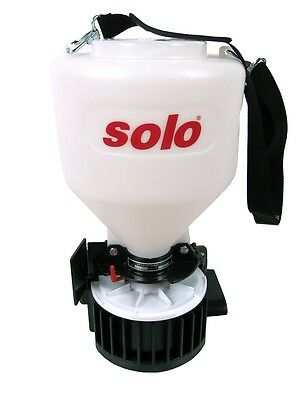 Solo Portable Spreader 421 distributes (up to 20lbs) pellets, sand etc