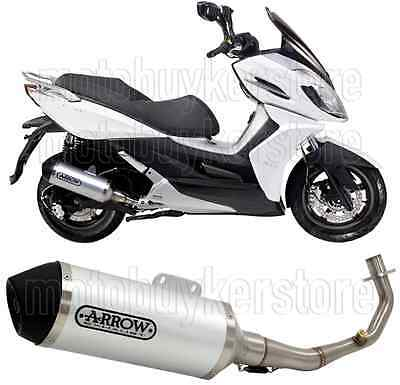 Arrow Full Muffler Exhaust System Urban Stainless Steel Kymco K-Xct 125 2012 12