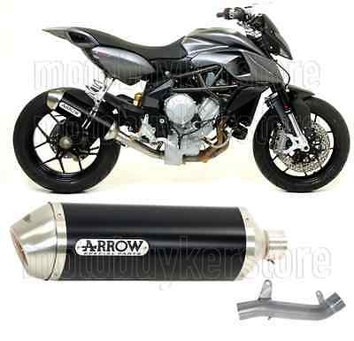 Arrow Kit Muffler Exhaust Racetech Aluminium Black Mv-Agusta Rivale 800 2014 14