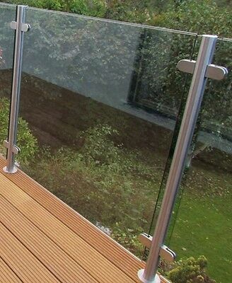 Quality Stainless Steel 48.3mm Satin External 316 Balustrade Posts  No Top Rail