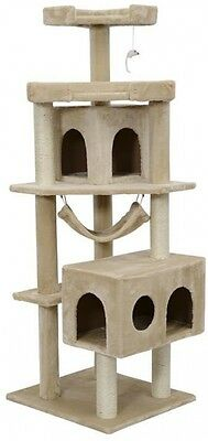 "Cat Tree For Large Cats Kitty Hammock Scratching Post Condos 65"" Clibing Tower"