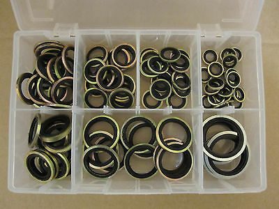 Assorted Bonded Seals (Dowty Washers) BSP (90 Pieces) AT103