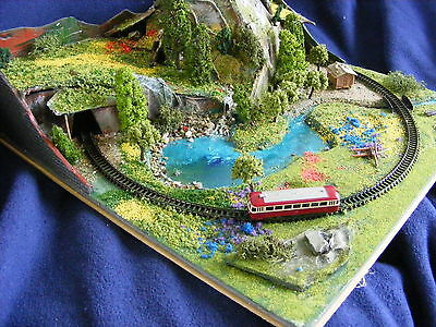 MINIATURE N-GAUGE LAY-OUT  ,,when the snow is gone  ,,  custom build