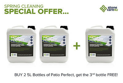 PATIO PERFECT 5L powerful, non-acid Patio cleaner - Buy 2 get 1 FREE!!