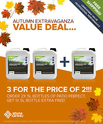 BEST PATIO & OUTDOOR STONE CLEANER ON EBAY Autumn Special Volume Deal (Save £££)