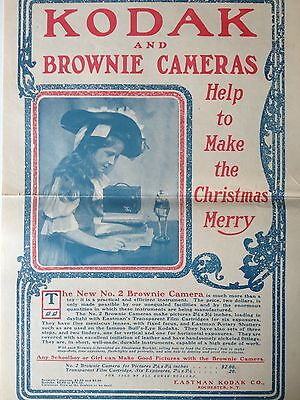 ANTIQUE ORIGINAL 1901 PRINT AD (up1)~KODAK BROWNIE FOR CHRISTMAS