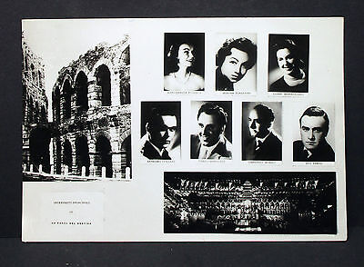 La Forza Del Destino Ensemble Theater Oper 1959 - Foto Autogramm-AK (Lot-H-5324