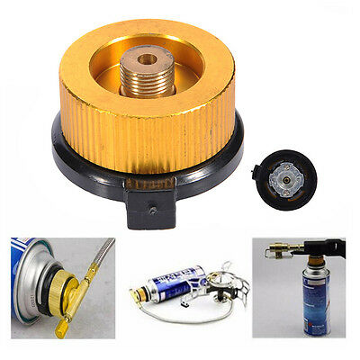 Outdoor Camping Conversion Head Gas Tank Bottle Adaptor Stove Burner Connector